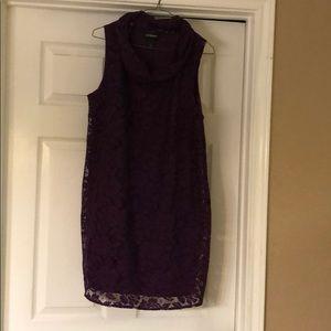Lane Bryant Lace Shift Dress size 14 Purple